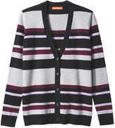 Joe Fresh Women's Stripe Cardigan, Black (Size M)