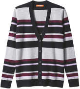 Joe Fresh Women's Stripe Cardigan, Black (Size XS)