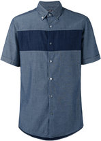 Michael Kors short sleeve denim shirt - men - Cotton - S