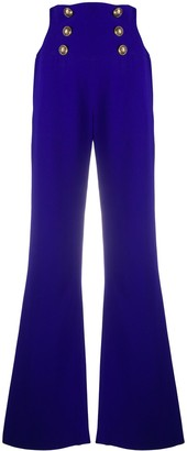 Balmain High Waist Flare Trousers