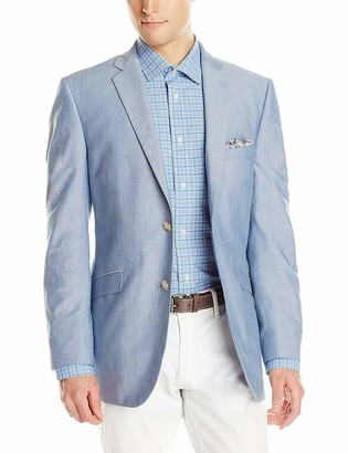 U.S. Polo Assn. Men's Chambray Sportcoat RAM28-Medium Blue 50 L
