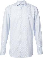 Eleventy geometric pattern shirt - men - Cotton - S