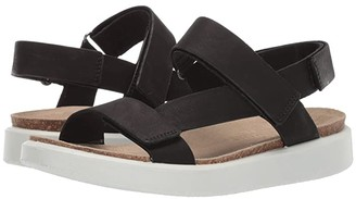 Ecco Corksphere Strap Sandal (Black Cow Leather) Women's Sandals