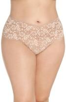 Hanky Panky Plus Size Women's Cross Dye Lace Retro Thong