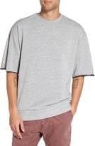Zanerobe Men's Rugger Oversize Half Sleeve Sweatshirt