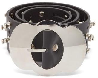 Chopova Lowena Studded Leather Belt - Black
