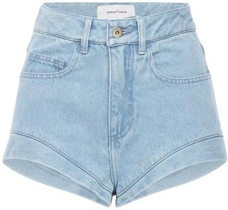 Marques Almeida High Waist Cotton Denim Shorts