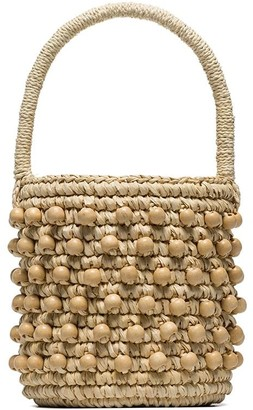 Sensi Studio mini woven bucket bag