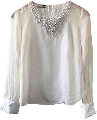 By Malene Birger White Silk Top for Women