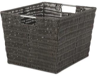 "Whitmor Rattique Storage Tote Basket - Espresso - 13"" x 15"" x 9.8"""