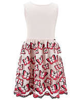 Marciano Big Girls 7-16 Solid/Butterfly-Embroidered Satin Fit-And-Flare Dress