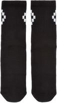 Marcelo Burlon County of Milan Black & White Cruz Socks