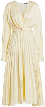 Magda Butrym Milano Pleated Silk Midi Dress