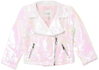 Urban Republic Flip Sequin Moto Jacket