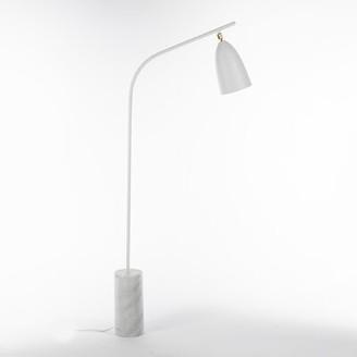 """Loren Galla Home 59"""" Task Floor Lamp Galla Home Finish: White"""