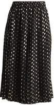 Warehouse METALLIC SPOT PLEATED SKIRT Aline skirt black/gold