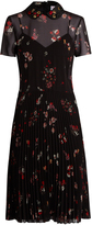 RED Valentino Embellished-collar short-sleeved crepe dress