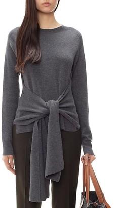J.W.Anderson Tie-Waist Crewneck Wool Sweater
