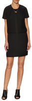 Maison Scotch Pleated Overlay Sheath Dress