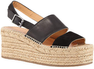 Rag & Bone Edie Leather Slingback Platform Sandals