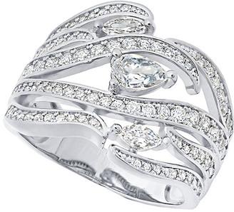 Crislu Platinum Plated Silver Cz Ring
