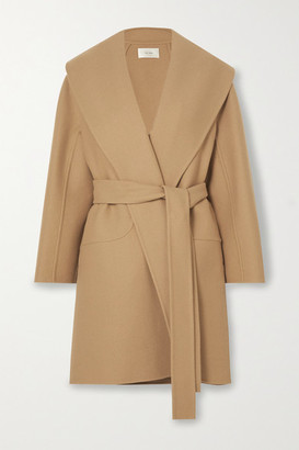 The Row Maddy Belted Wool-blend Coat - Beige