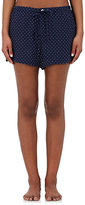 Sleepy Jones Women's Paloma Star-Print Silk Pajama Shorts-NAVY