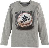 adidas Boys 4-7x Climalite Baseball Graphic Tee