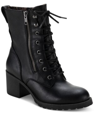 Sun + Stone Sloanie Lace-Up Hiker Booties, Created for Macy's Women's Shoes