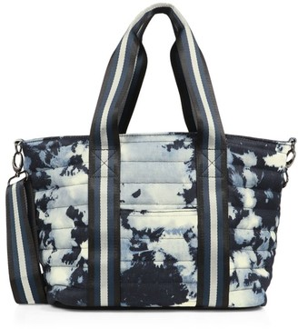 Think Royln Junior Wingman Tie-Dye Denim Quilted Tote