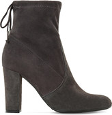 Dune Orchid suede ankle boots