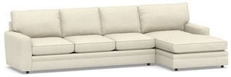 Pottery Barn Pearce Square Arm Upholstered Double Chaise Sectional