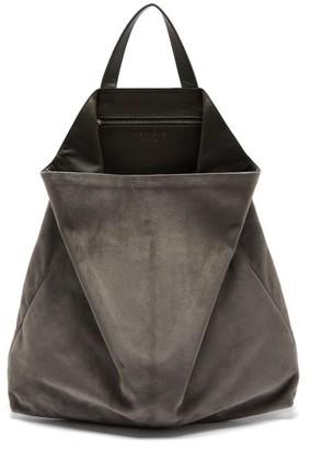 Tsatsas Fluke Suede Tote Bag - Grey