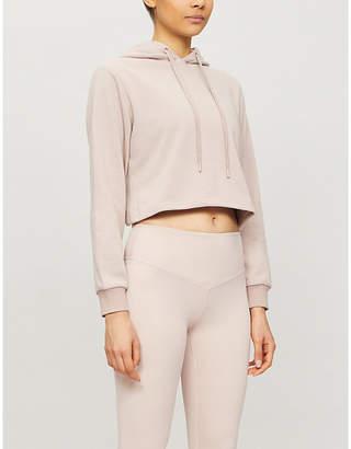 Selfridges Lurv Breathe Easy cropped organic cotton-jersey hoody