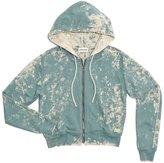 Cotton Citizen Women's Milan Crop Zip Hoodie - Ocean Dust