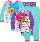 Asstd National Brand Shimmer and Shine 4-pc. Pajama Set - Toddler Girls 2t-5t