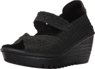 Bernie Mev. Hallie Womens Casual Wedge Mary Jane Open Toe Shoes HALLE-BLK Black 39 EUR