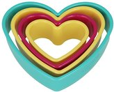 Metaltex Hearts Cookie Cutter, Multi-Colour, 4-Piece