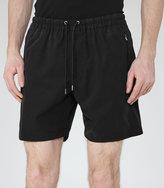 Reiss Reiss Howard - Drawstring Shorts In Black