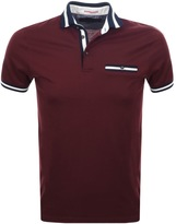 Ted Baker Short Sleeved Beeril Polo T Shirt Red