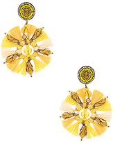 Ranjana Khan Circle Tassel Earring in Yellow.