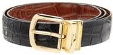 Florsheim Reversible Croco Embossed Leather Belt