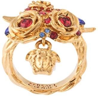 Versace Crystal Embellished Ring