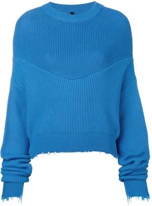 Unravel long-sleeve draped sweater