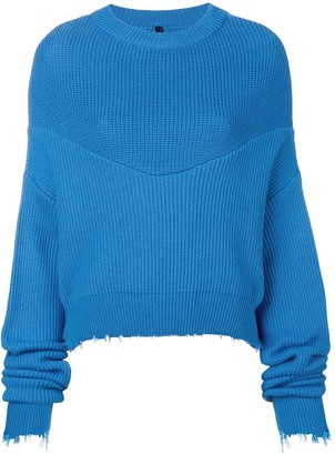 Unravel Project long-sleeve draped sweater