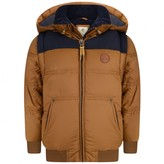 Timberland TimberlandBoys Brown Hooded Puffer Coat