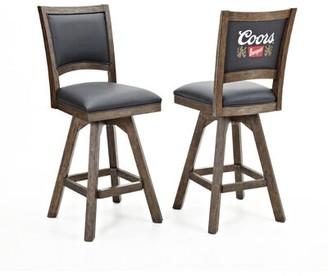 "ECI Furniture Coors Banquet 30"" Swivel Bar Stool (Set of 2 Furniture"