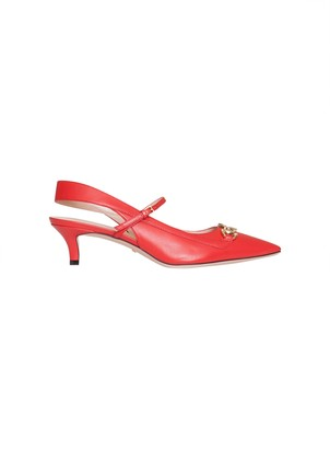 Gucci Gg Red Slingback