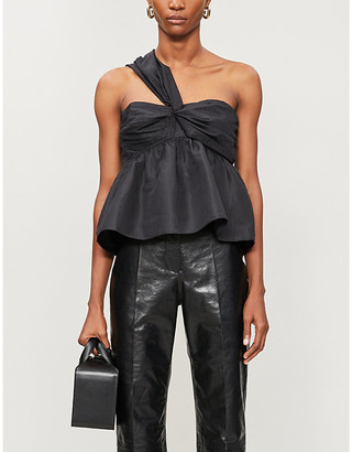 Zadig & Voltaire Trip one-shouldered satin top