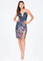 Bebe Amanda Print Scuba Dress